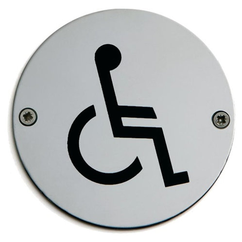 Accessible/Disabled Door Sign 75mm