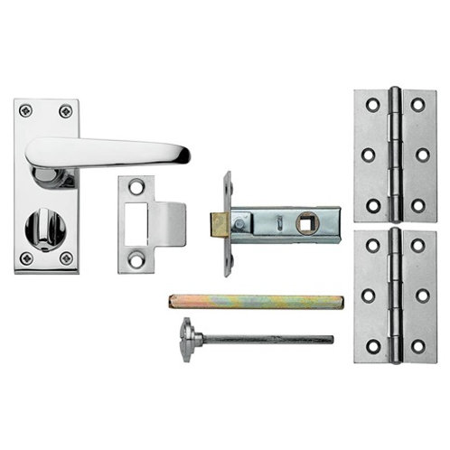 Victorian Short Backplate Chrome Privacy Pack LAL0757