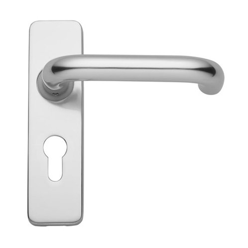 Aluminium Roundbar Backplate Euro Handle DFU1023