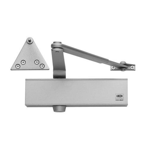 Union CE24V Adjustable Size 2-4 Overhead Silver Door Closer DCL0034