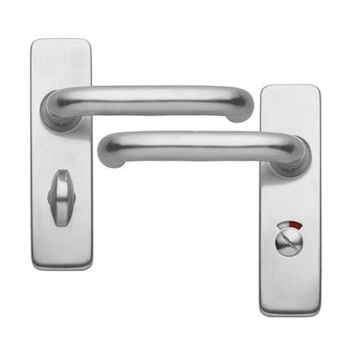 Aluminium Roundbar Backplate Privacy/Bathroom Handle DFU1022