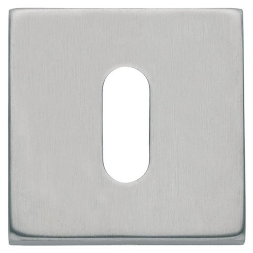 Square Escutcheon (pair) Brushed Stainless Steel DFU0780