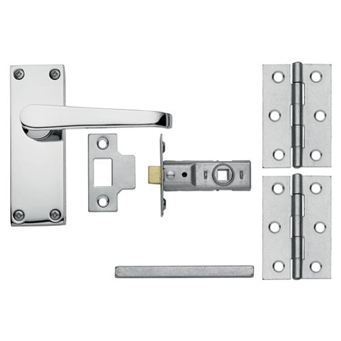 Victorian Backplate Handle Latch Pack