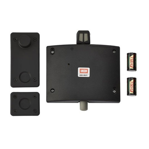 Union Fixed Size Black Fire Door Holder / Retainer DCL0035