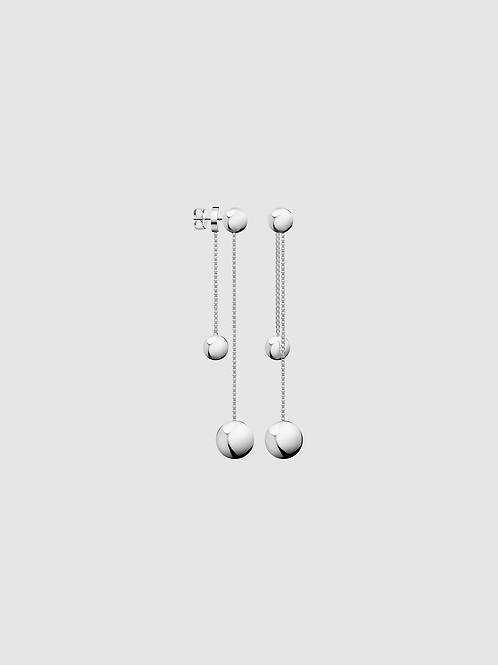 Calvin Klein Stainless Steel Ball Drop Earrings
