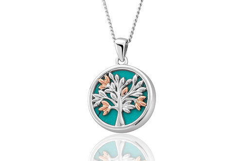 Clogau Silver Tree of Life Turquoise Pendant
