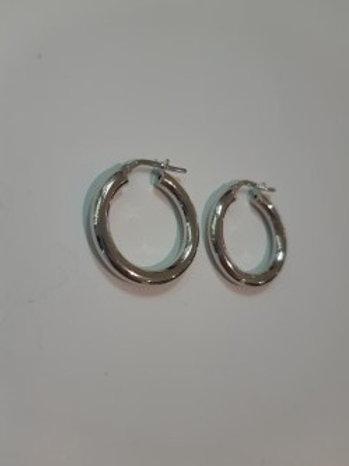 Silver Plain Hoop Earrings