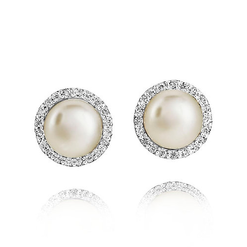 Silver Amberley Cluster Earrings