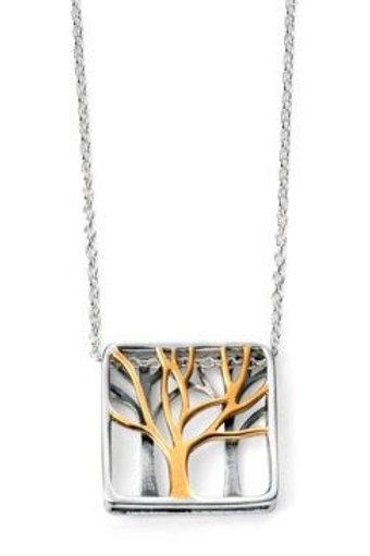 Silver Reversible Tree Of Life Pendant