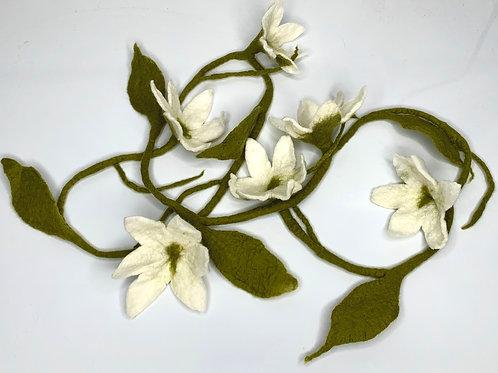 Flower Garland White