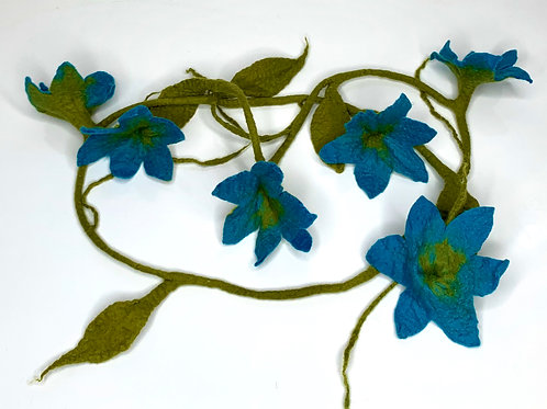 Flower Garland Blue