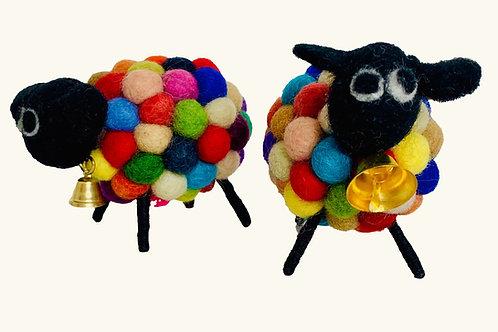 Bah Bah Multicolored Sheep