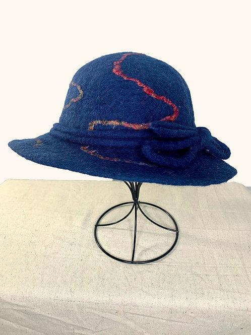 Navy Drop Yarn Hat (Hat J)