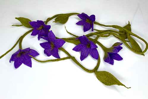 Flower Garland Purple