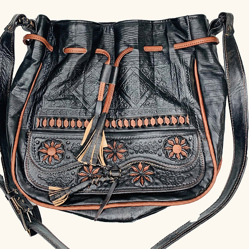 Large Moroccan Bag - Black