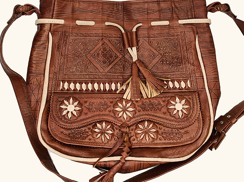 Large Moroccan Bag - Brown