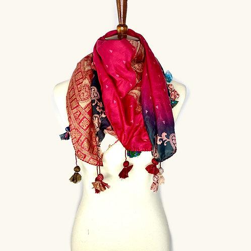 Sari with Tassels