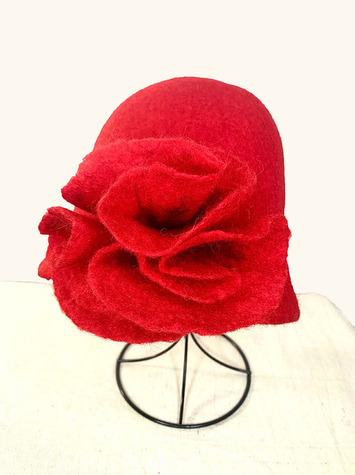 Red Hat with Red Flower (Hat A)