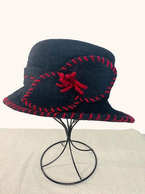 Black Hat with Black Bow (Hat L)