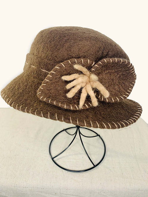 Brown Hat with Brown Bow (Hat K)