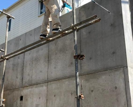 土留めコンクリート 防カビ、湿気予防 イッカ建築設計事務所様