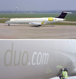 DUO AIRWAYS UK AIRCRAFT LIVERY