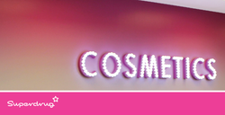 SUPERDRUG CARDIFF COSMETICS SIGN
