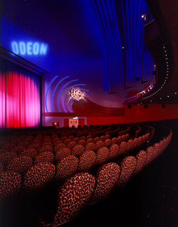 ODEON LEICESTER SQ LEOPARD SEATS