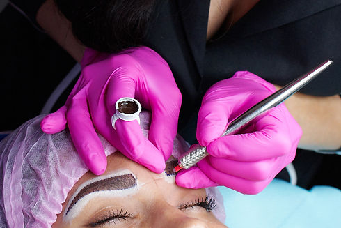 hand master with tool for microblading,