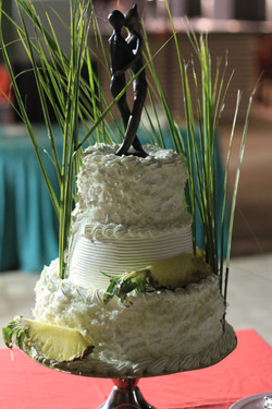 Pineapple and coconut wedding cake