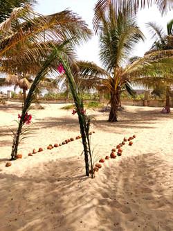 Gambian Beach Wedding Arch