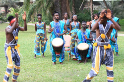 Gambian cultural troop performance