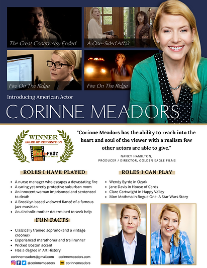 Introducing American Actor Corinne Meadors