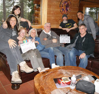 """That's a wrap! Cast and crew pic from the film """"The Great Controversy Ended""""."""