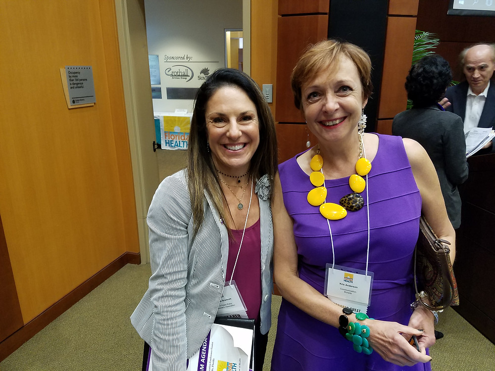 Kris Anderson author My Alzheimer's Diet and Michelle Branham of the Florida Alzheimer's Association at the Florida Department of health summit on Alzheimers at the Florida Hospital Orlando June 7-8 2018