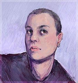 self portrait of artist Julle Seera