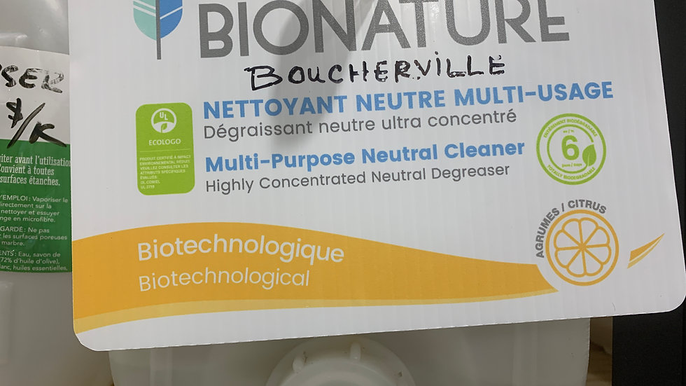 Nettoyant Multi-usages concentré Bionature