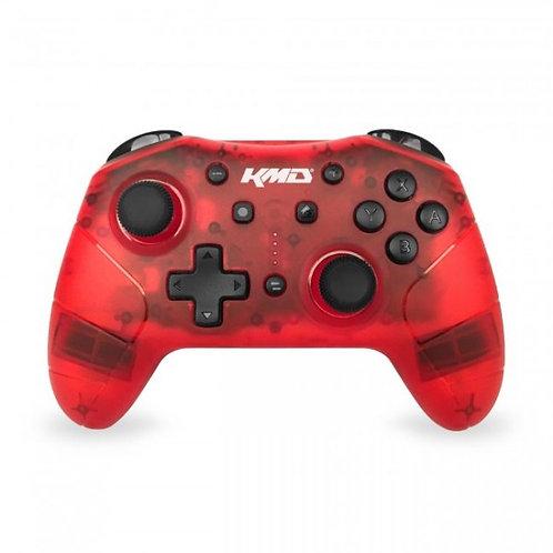 Control Inalambrico Bluetooth Para Nintendo Switch con Turbo KMD Rojo