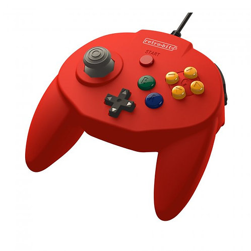 Control Tribute64 USB para PC, MAC, Steam y Switch Rojo Retro-Bit