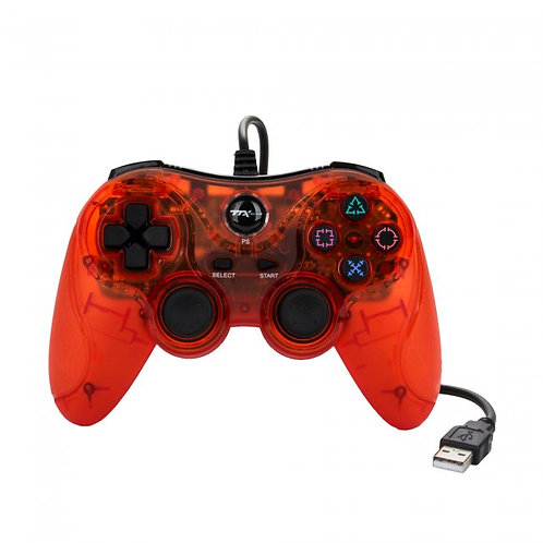 Control alambrico USB para PS3 y PC Rojo TTX Tech