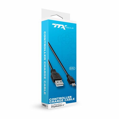 Cable de carga para control de PS3 TTX Tech