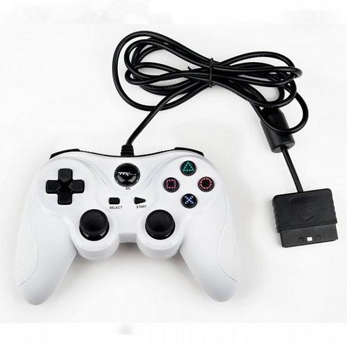 Control para PS2 y PS1 Blanco TTX Tech