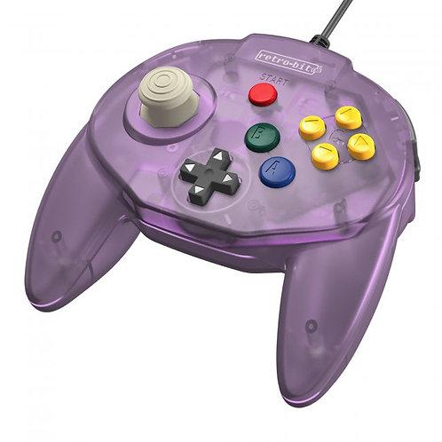 Control Tritube64 para Nintendo 64 N64 Retro-bit Morado
