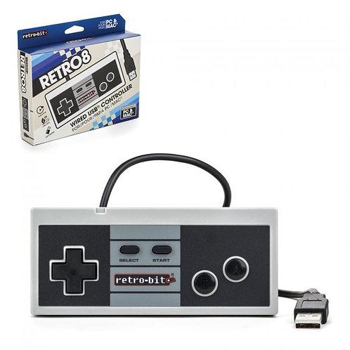 Control alambrico USB estilo NES para PC y MAC Retro-Bit