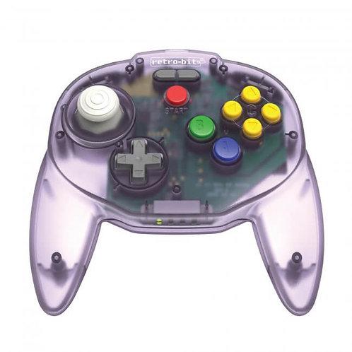 Control Inalambrico Tribute64 2.4 GHz Morado para Nintendo 64 Switch USB