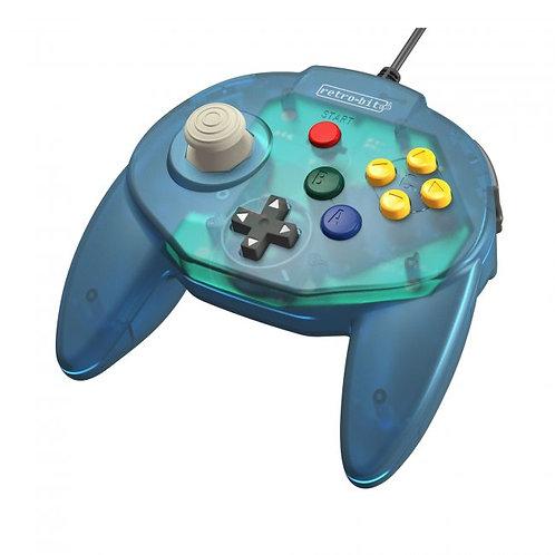 Control Tritube64 para Nintendo 64 N64 Retro-bit Azul Oceano
