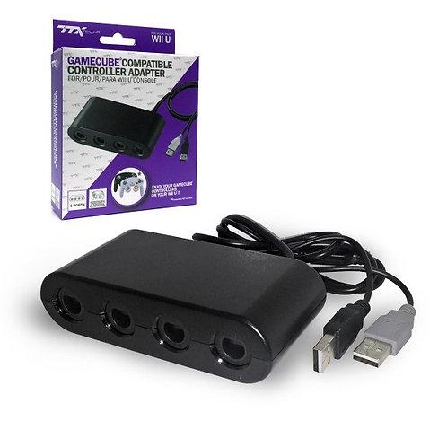 Adaptador de Controles de GameCube para Wii U y Switch 4 puertos TTX TECH
