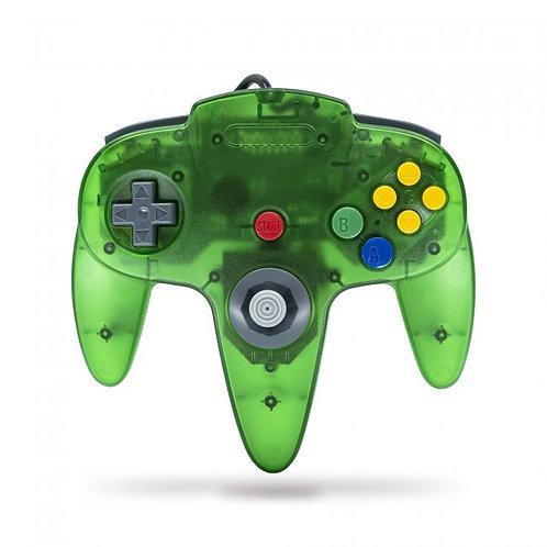 Control para Nintendo 64 N64 Verde Transparente Tecknogame