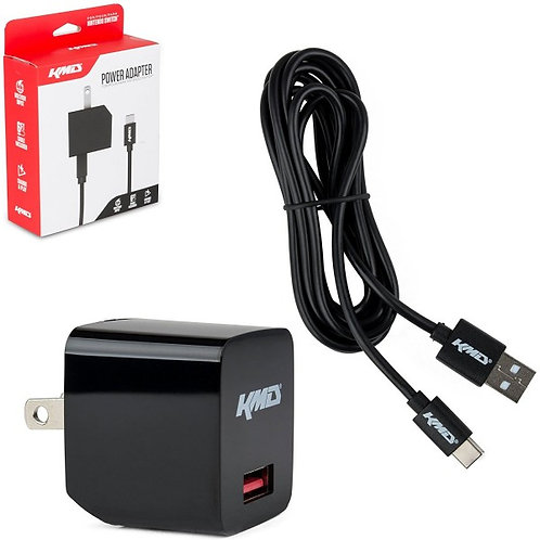 Cargador AC para Nintendo Switch con cable USB 2 en 1 Travel Charger KMD