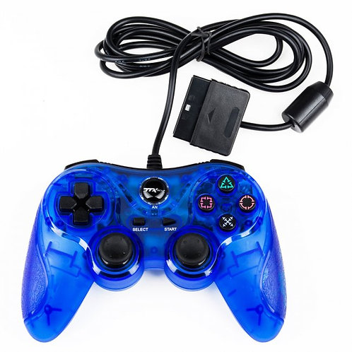 Control para PS2 y PS1 Azul TTX Tech
